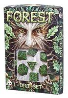 """Набор кубиков """"Forest"""" (7 шт.; зелено-черный)"""