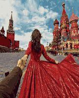 """Картина по номерам """"Иди за мной. Красная площадь"""" (400х500 мм)"""