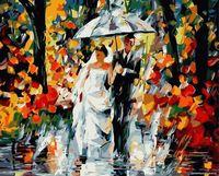 """Картина по номерам """"Свадьба под дождем"""" (400х500 мм)"""