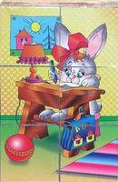 """Кубики """"Забавные животные"""" (6 штук)"""