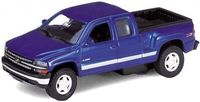 "Модель машины ""Welly. Chevrolet Silverado 1999"" (масштаб: 1/34-39)"