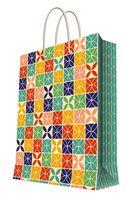 """Пакет бумажный подарочный """"Геометрический узор"""" (26х32,4х12,7 см; арт. 44206)"""