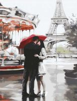 "Картина по номерам ""Париж. Любовь"" (400х500 мм)"