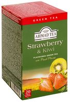 "Чай зеленый ""Ahmad Tea. Strawberry and Kiwi"" (20 пакетиков)"