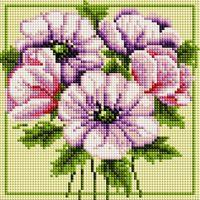 "Алмазная вышивка-мозаика ""Чудесные цветы"" (200х200 мм)"