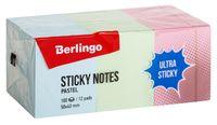 """Стикеры """"Berlingo"""" (50х40 мм; 12 блоков по 100 листов; разноцветные)"""
