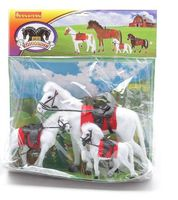 """Набор фигурок """"Лошадь с жеребятами"""" (арт. ВВ0276)"""
