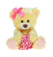 """Мягкая игрушка """"Медведь Праздничный медово-желтый"""" (50 см)"""
