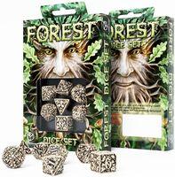 """Набор кубиков """"Forest"""" (7 шт.; бежево-черный)"""