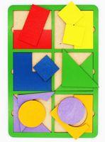 "Рамка-вкладыш ""Собери квадрат"" (6 фигур; уровень 1)"