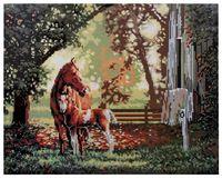 """Алмазная вышивка-мозаика """"Лошади"""""""