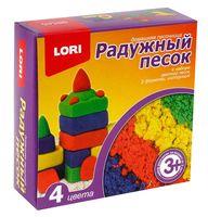 """Набор для лепки из песка """"Радужный"""" (4 цвета; 0,6 кг)"""