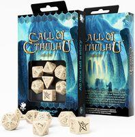 "Набор кубиков ""Call of Cthulhu"" (7 шт.; бежево-черный)"