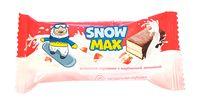 """Пирожное бисквитное глазированное """"Snow Max. С клубничной начинкой"""" (40 г)"""