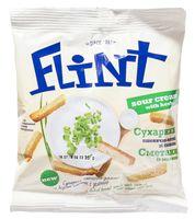 """Сухарики пшенично-ржаные """"Flint. Сметана и зелень"""" (35 г)"""