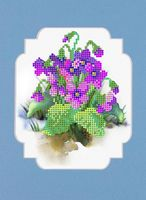 """Вышивка бисером """"Весенние цветы"""" (120х150 мм)"""
