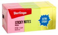 """Стикеры """"Berlingo"""" (50х40 мм; 12 блоков по 80 листов; разноцветные)"""