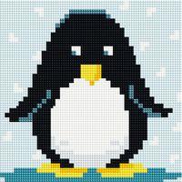 "Алмазная вышивка-мозаика ""Пингвин"" (200х200 мм)"