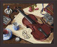 "Картина по номерам ""Уроки музыки"" (400х500 мм)"