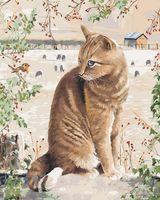 "Картина по номерам ""Кот в деревне"" (400х500 мм)"