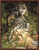 """Картина по номерам """"Дикие и свободные волки"""" (510х410 мм; арт. DMS-91416)"""