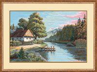 """Вышивка крестом """"Тихая речка"""" (арт. 889)"""