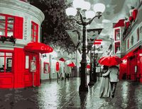 "Картина по номерам ""Улица в красных красках"" (400х500 мм; арт. PC4050109)"