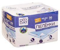 """Пеленки одноразовые детские """"DryDay. Super"""" (30 шт.; 600х600 мм)"""