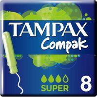 Тампоны TAMPAX Compak Super (8 шт)