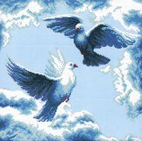 """Вышивка крестом """"Танец в облаках"""""""