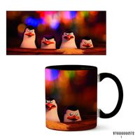 "Кружка ""Пингвины Мадагаскара"" (арт. 572, черная)"
