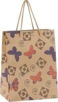 """Пакет бумажный подарочный """"Бабочки и ромбики"""" (19х24,5х8 см; арт. 43743)"""