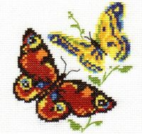 "Вышивка крестом ""Бабочки-красавицы"""