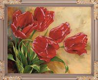 """Вышивка бисером """"Первые цветы"""" (380х480 мм)"""