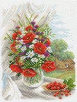 """Канва с нанесенным рисунком """"Полевые цветы"""" (арт. 1687)"""