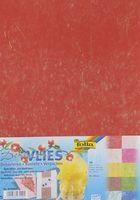 Бумага волокнистая с золотыми нитями (230х330 мм; 10 листов)