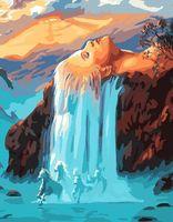 "Картина по номерам ""Сказочный водопад"" (400х500 мм)"
