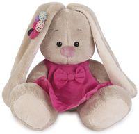 """Мягкая игрушка """"Зайка Ми малыш в розовом сарафанчике и ромашкой на ушке"""" (15 см)"""