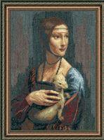 """Вышивка крестом """"По мотивам Леонардо да Винчи. Дама с горностаем"""" (290х425 мм)"""