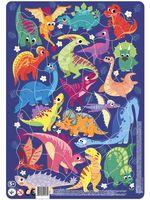 """Пазл-рамка """"Динозавры"""" (53 элемента)"""