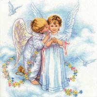 """Вышивка полукрестом """"Ангельские поцелуи"""" (арт. DMS-35134)"""