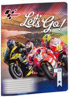 """Тетрадь в клетку """"MotoGP"""" 18 листов"""
