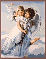 "Картина по номерам ""Ангелы в облаках"" (400х500 мм)"