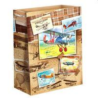 """Пакет бумажный подарочный """"Самолеты"""" (23х27х8 см; арт. 10733127)"""