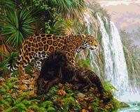"Картина по номерам ""Два леопарда"" (400х500 мм)"
