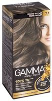 """Крем-краска для волос """"Gamma perfect color"""" (тон: 7.1, темно-русый пепельный)"""