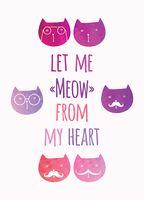 """Открытка """"Meow"""""""