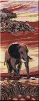 """Вышивка крестом """"Слоны. Часть 3"""" (380x150 мм)"""