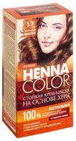 """Крем-краска для волос """"Henna Color"""" (тон: 5.3, золотистый каштан)"""