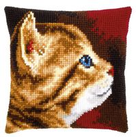 "Вышивка крестом ""Подушка. Котёнок"" (400х400 мм)"